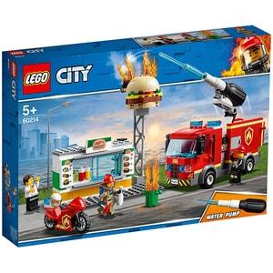 LEGO City: Stingerea incendiului de la Burger 60214, 5 ani+, 327 piese