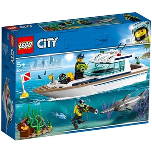 LEGO City: Iaht pentru scufundari 60221, 5 ani+, 148 piese