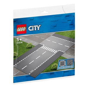 LEGO City: Intersectie dreapta si in T 60236, 5 ani+, 2 piese