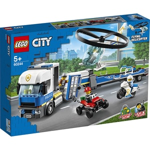 LEGO City: Police - Transportul elicopterului de politie 60244, 5 ani+, 317 piese