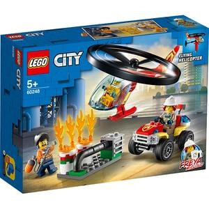 LEGO City: Interventie cu elicopterul de pompieri 60248, 5 ani+, 93 piese