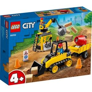 LEGO City: Buldozer pentru constructii 60252, 4 ani+, 126 piese
