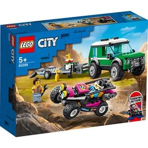 LEGO City: Transportor de automobile de curse 60288, 5 ani+, 210 piese
