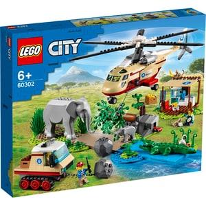 LEGO City: Operatiune de salvare a animalelor salba 60302, 6 ani+, 525 piese