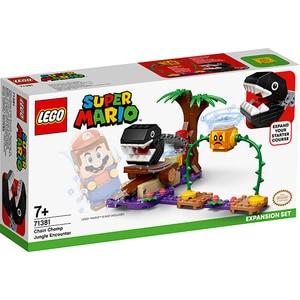 LEGO Super Mario: Set de extindere intalnirea din jungla a lui Chain Chomp 71381, 7 ani+, 160 piese
