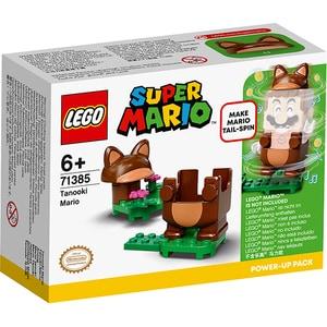 LEGO Super Mario: Costum de puteri - Mario Tanooki 71385, 6 ani+, 13 piese