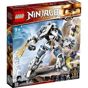 LEGO Ninjago: Lupta cu robotul de titan a lui Zane 71738, 9 ani+, 840 piese