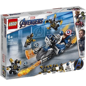LEGO Super Heroes: Captain America Atacul Outriderilor 76123, 6 ani+, 167 piese
