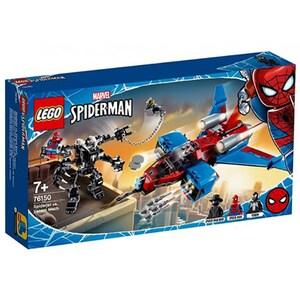 LEGO Super Heroes: Spiderjet contra Robotul Venom 76150, 7 ani+, 371 piese