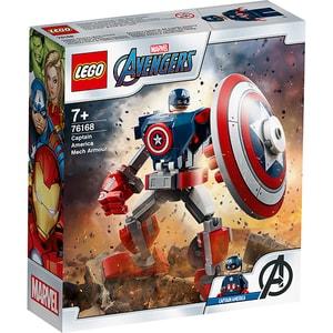 LEGO Super Heroes: Armura de robot Capitanul America 76168, 7 ani+, 121 piese