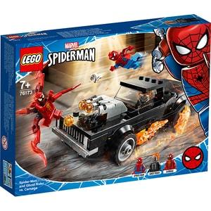 LEGO Super Heroes: Omul paianjen si Calaretul fantoma contra Carnage 76173, 7 ani+, 212 piese
