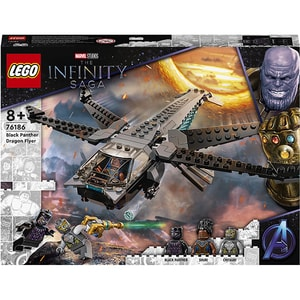 LEGO Super Heroes: Nava libelula a Panterei negre 76186, 8 ani+, 202 piese
