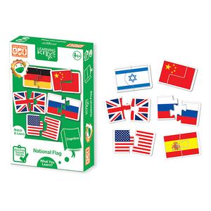 Joc de potrivire LEARNING KITDS Steagurile lumii PA-9080, 6 ani+, 36 piese