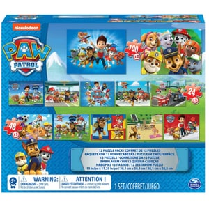 Puzzle SPIN MASTER 12 in 1 Paw Patrol 6041049, 4 ani+, 560 piese