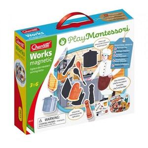 Puzzle magnetic QUERCETTI Montessori Q0623, 3-6 ani, 12 piese