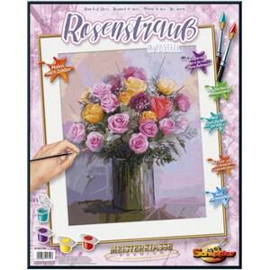 Set pictura pe numere SCHIPPER A Bunch of Roses in Patel Colors 609130749, 12 ani+, 40x50 cm