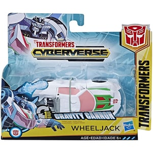 Figurina TRANSFORMERS Cyberverse Wheeljack E3522_E3646, 6 ani+, alb-gri