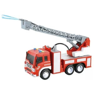 Masinuta pompieri cu frictiune sunete si lumini WENYI WY351B, 3 ani+, rosu-alb