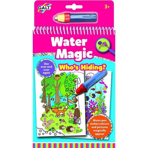 Carte de colorat GALT Water Magic Who's Hiding? 1005038, 3 ani+, 6 imagini
