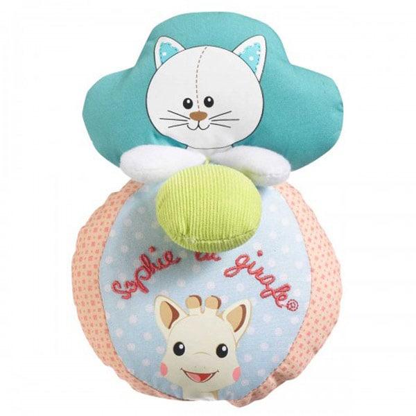 Jucarie interactiva Minge cu sunete si vibratii VULLI Pisica Lazare, 3 luni+, multicolor