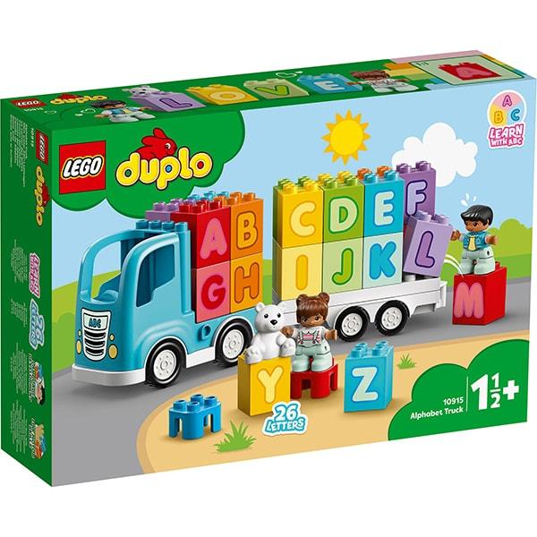 LEGO Duplo: Primul meu camion cu litere 10915, 1.5 ani+, 36 piese
