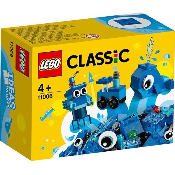 LEGO Classic: Caramizi creative albastre 11006, 4 ani+, 52 piese