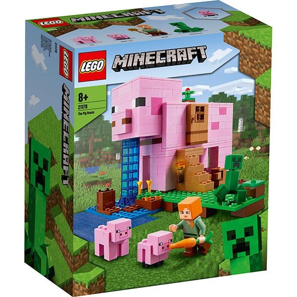 LEGO Minecraft: Casa purcelusilor 21170, 8 ani+, 490 piese