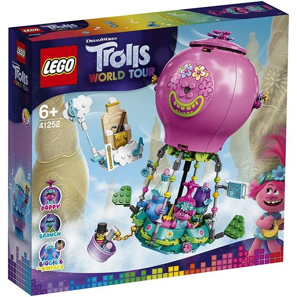 LEGO Trolls: World Tour Aventura lui Poppy cu balonul cu aer cald 41252, 6 ani+, 250 piese