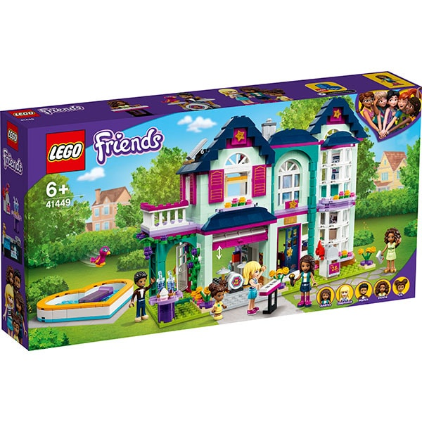 LEGO Friends: Casa familiei Andreei 41449, 6 ani+, 802 piese