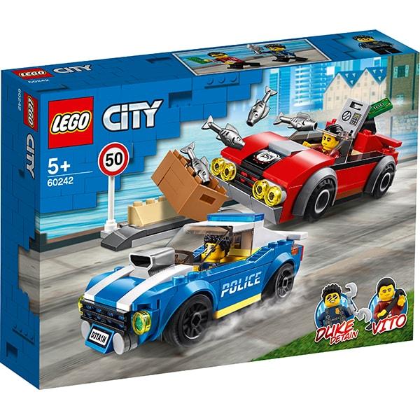 LEGO City: Arest pe autostrada al politiei 60242, 5 ani+, 185 piese