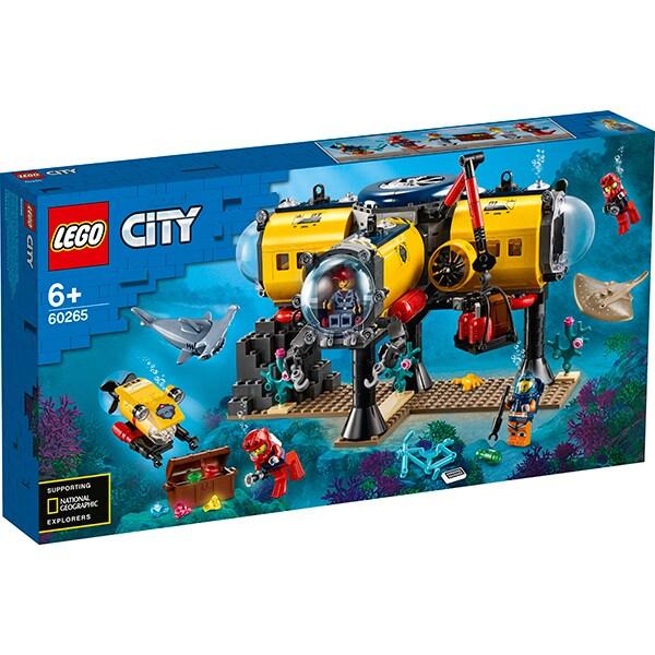LEGO City: Baza de explorare a oceanului 60265, 6 ani+, 497 piese