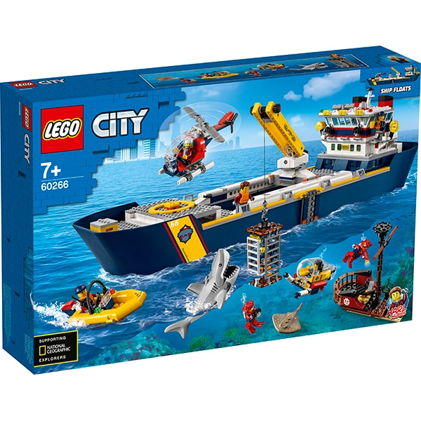 LEGO City: Nava de explorare a oceanului 60266, 7 ani+, 745 piese