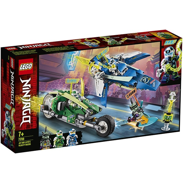 LEGO Ninjago: Masinile rapide de curse ale lui Jay si Lloyd 71709, 7 ani+, 322 piese