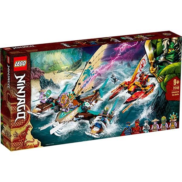 LEGO Ninjago: Lupta pe mare cu catamaranul 71748, 18 ani+, 2363 piese