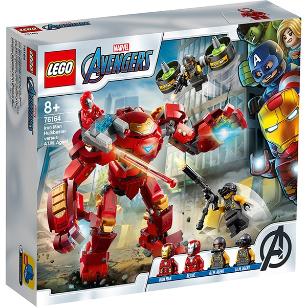 LEGO Super Heroes: Iron Man Hulkbuster contra AIM - Agent 76164, 8 ani+, 456 piese