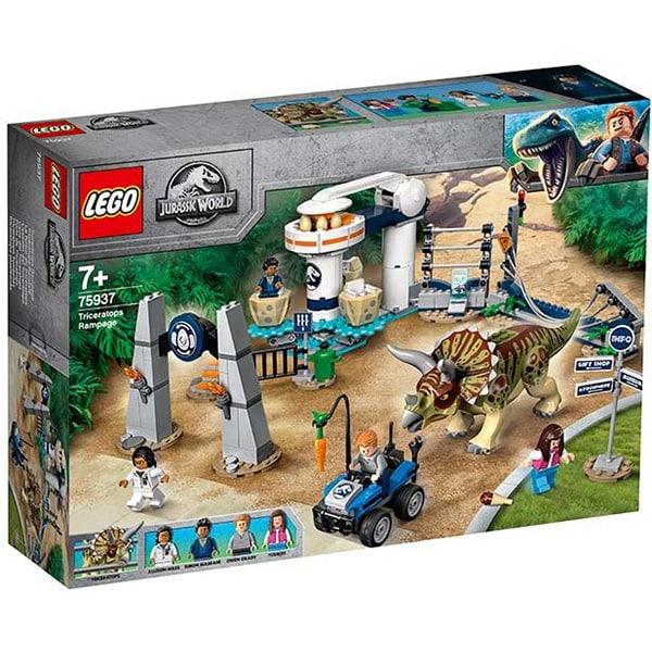 LEGO Jurassic World: Triceratops dezlantuit 75937, 7 ani+, 447 piese