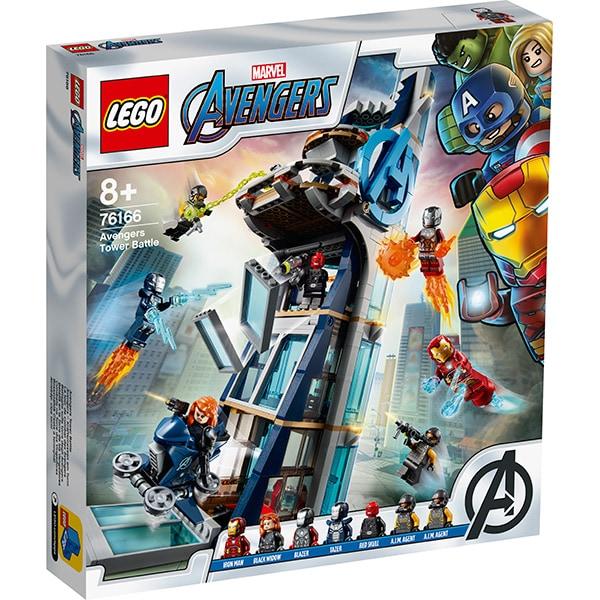 LEGO Super Heroes: Lupta din turn a Razbunatorilor 76166, 8 ani+, 685 piese