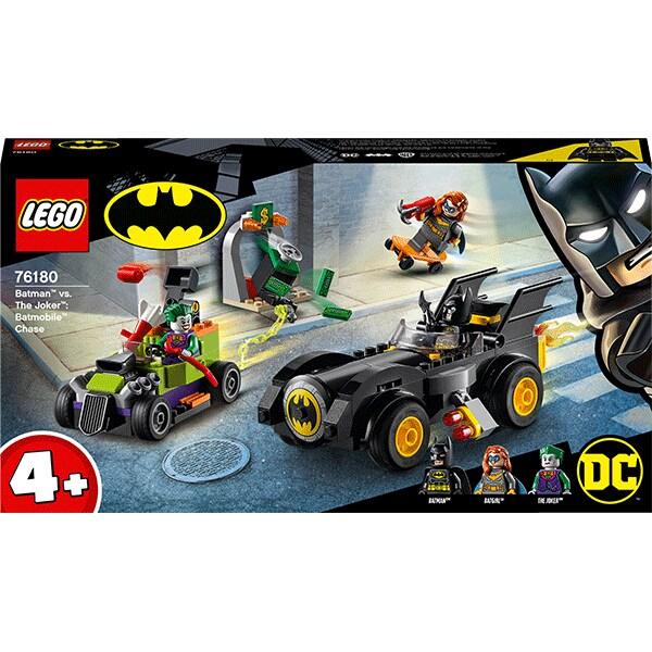 LEGO Super Heroes: Urmarirea cu Batmobile-ul 76180, 4 ani+, 136 piese