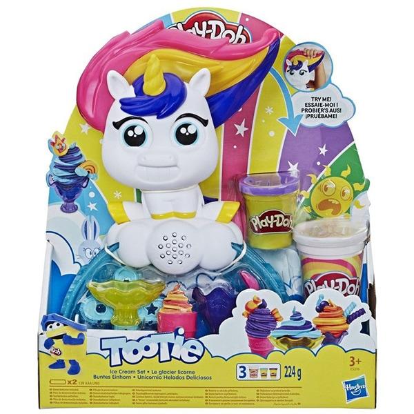 Set PLAY DOH Tootie - Unicornul cu inghetata E5376, 3 ani+, multicolor