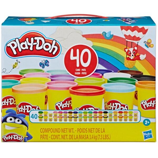 Set PLAY DOH 40 de borcanase cu pasta colorata E9413, 2 ani+, multicolor