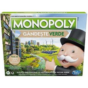 Joc de societate HASBRO Monopoly Go Green E9348, 8 ani+, 2-6 jucatori