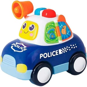 Jucarie interactiva HOLA Masina de politie cu lumini si sunete, 6108, 12 luni+, multicolor