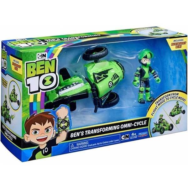 Set BEN 10 Vehicul extraterestru cu figurina 74401, 4 ani+, verde-negru