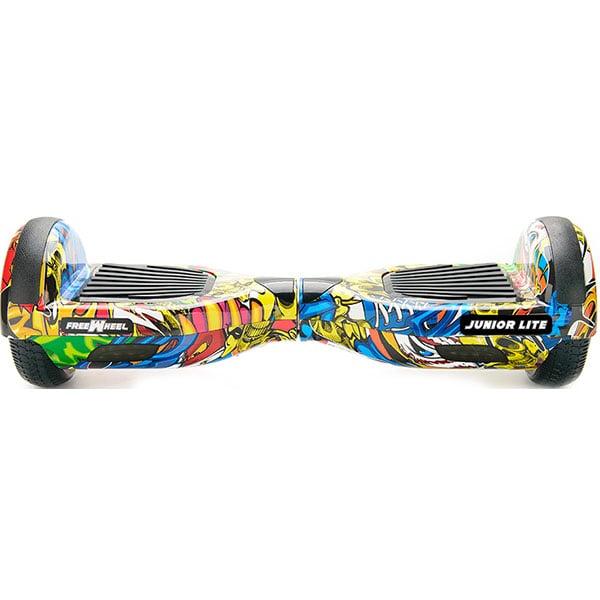Hoverboard FREEWHEEL Junior Lite, 6.5 inch, viteza 12 km/h, motor 2 x 200W Brushless, graffiti galben