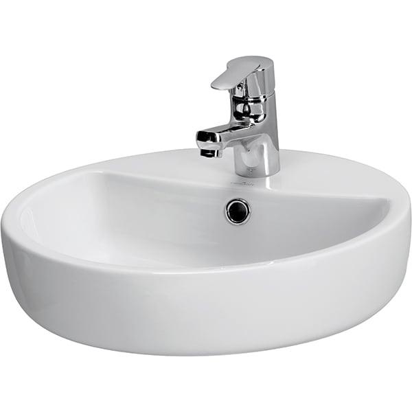 Chiuveta baie CERSANIT Caspia Ring 44, montare pe blat, 44 cm, alb