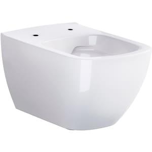 Vas toaleta CERSANIT CleanOn Metropolitan, montaj suspendat, evacuare spate, alb
