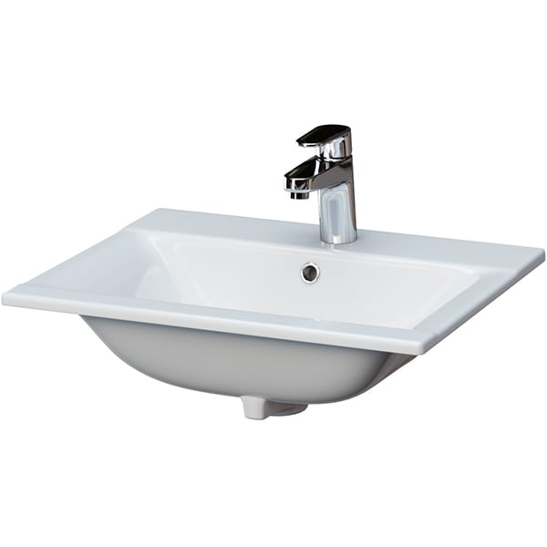 Chiuveta baie CERSANIT Ontario New 50, montare incorporabila, 50 x 39.5 cm, alb
