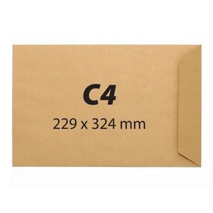 Plic pentru documente siliconic VOLUM, C4, 250 bucati
