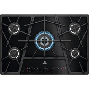 Plita incorporabila ELECTROLUX KGV7539IK, Gaz, 5 arzatoare, Touch control, negru