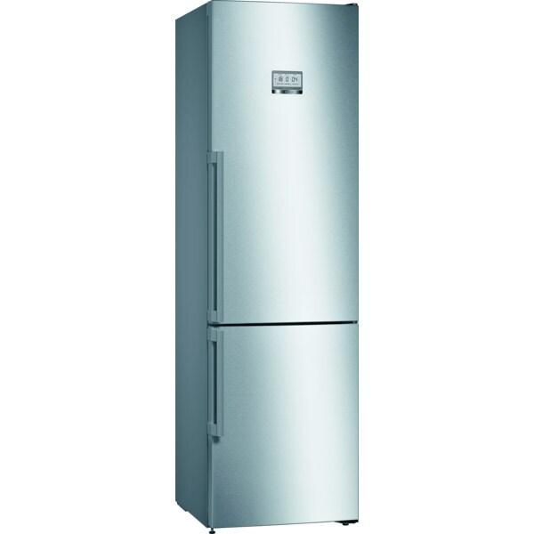 Combina frigorifica BOSCH KGF39PIDP, No Frost, 345 l, H 203 cm, Clasa D, inox